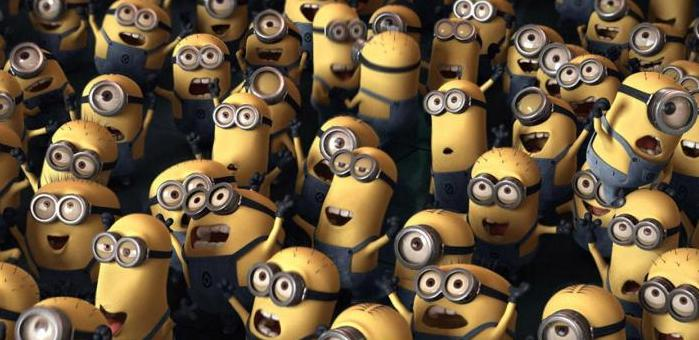 Minions cheering gif