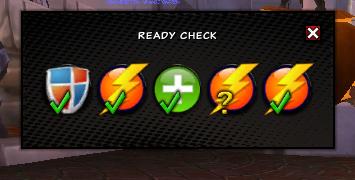 Ready Check Screen